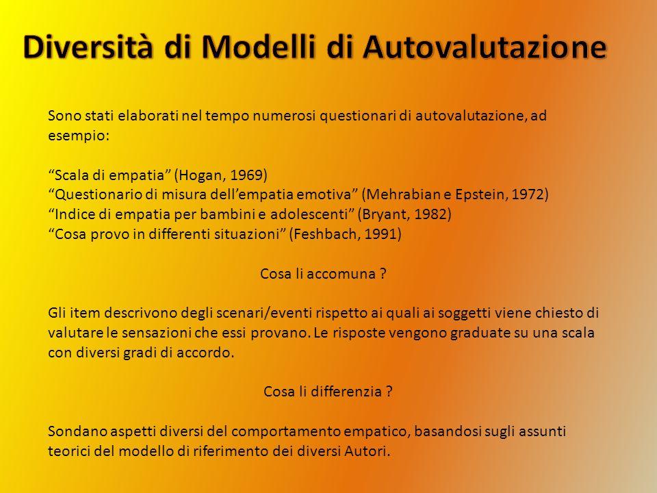 Diversità di Modelli di Autovalutazione