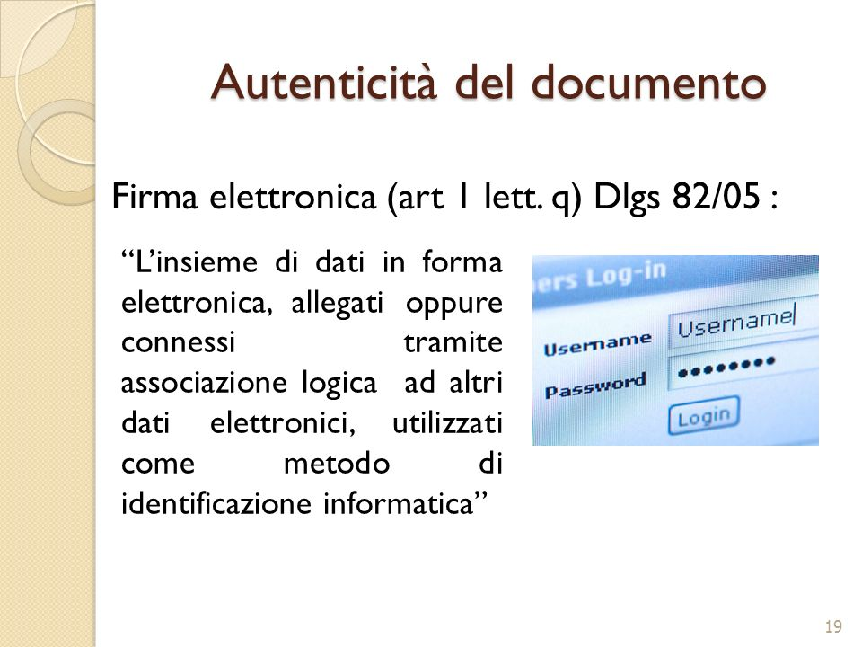 Autenticità del documento