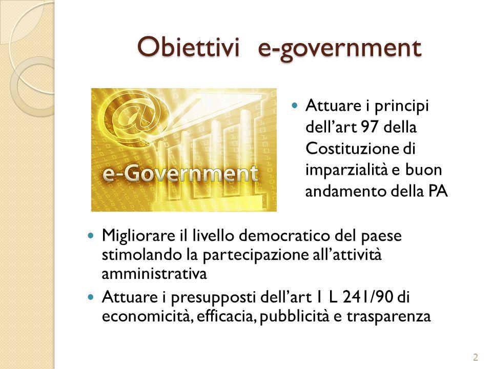 Obiettivi e-government