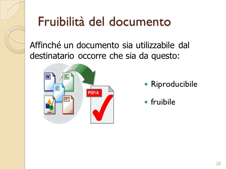 Fruibilità del documento