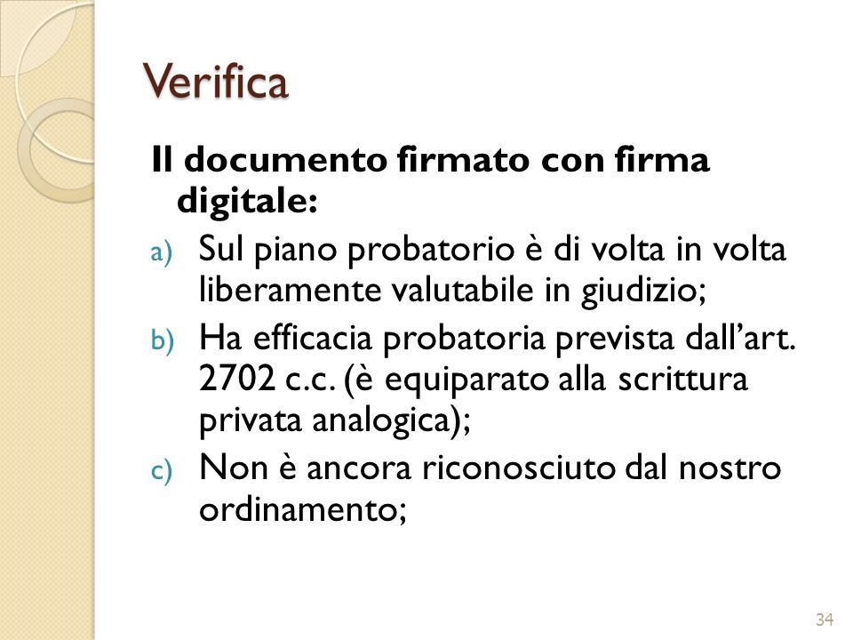 Verifica Il documento firmato con firma digitale: