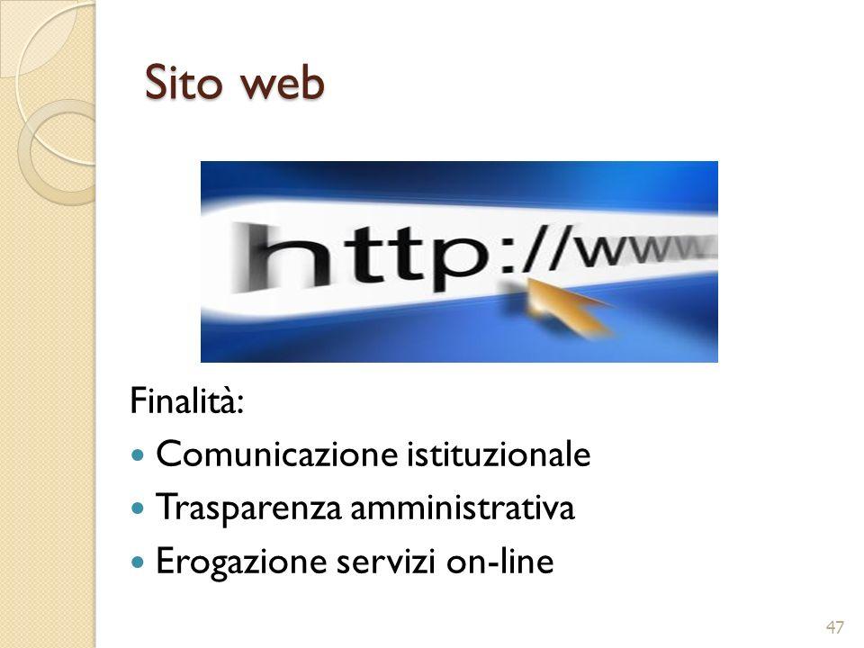 Sito web Finalità: Comunicazione istituzionale
