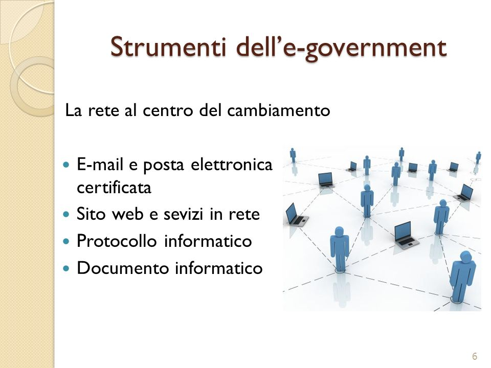 Strumenti dell'e-government
