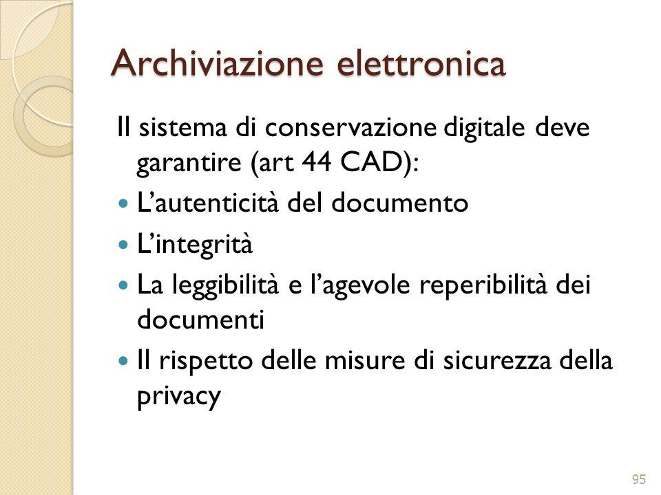 Archiviazione elettronica