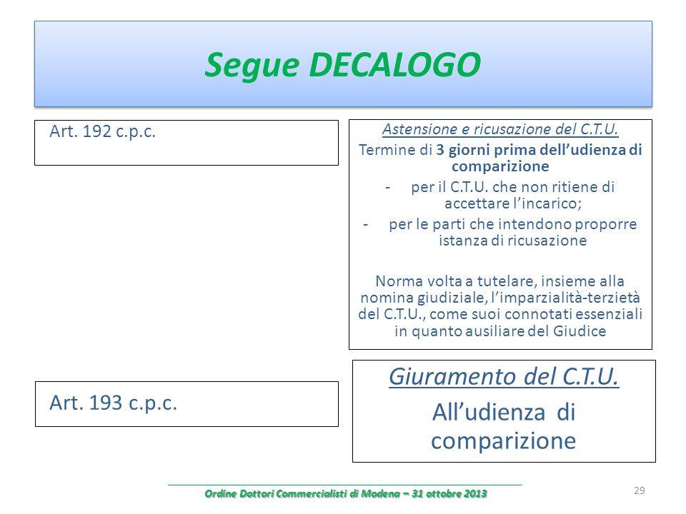 Ordine Dottori Commercialisti di Modena – 31 ottobre 2013