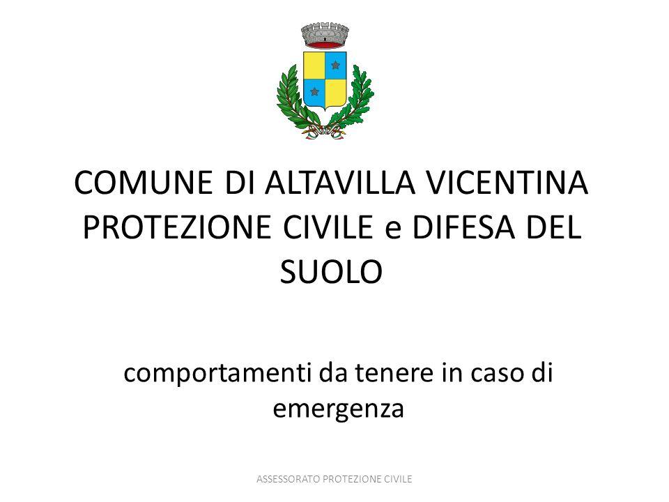 COMUNE DI ALTAVILLA VICENTINA PROTEZIONE CIVILE e DIFESA DEL SUOLO