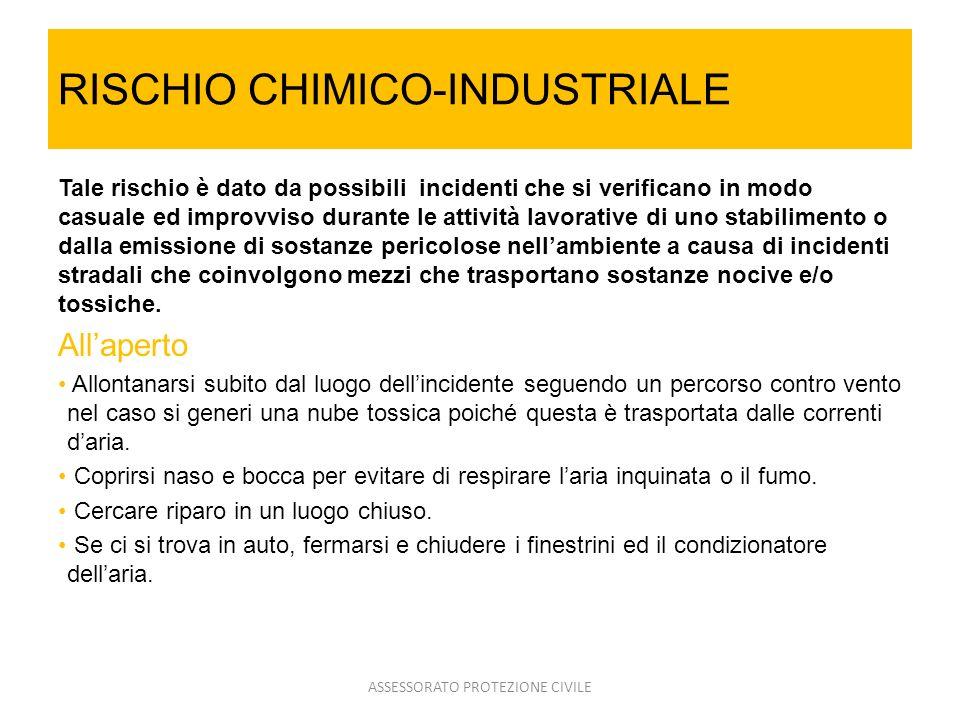 RISCHIO CHIMICO-INDUSTRIALE