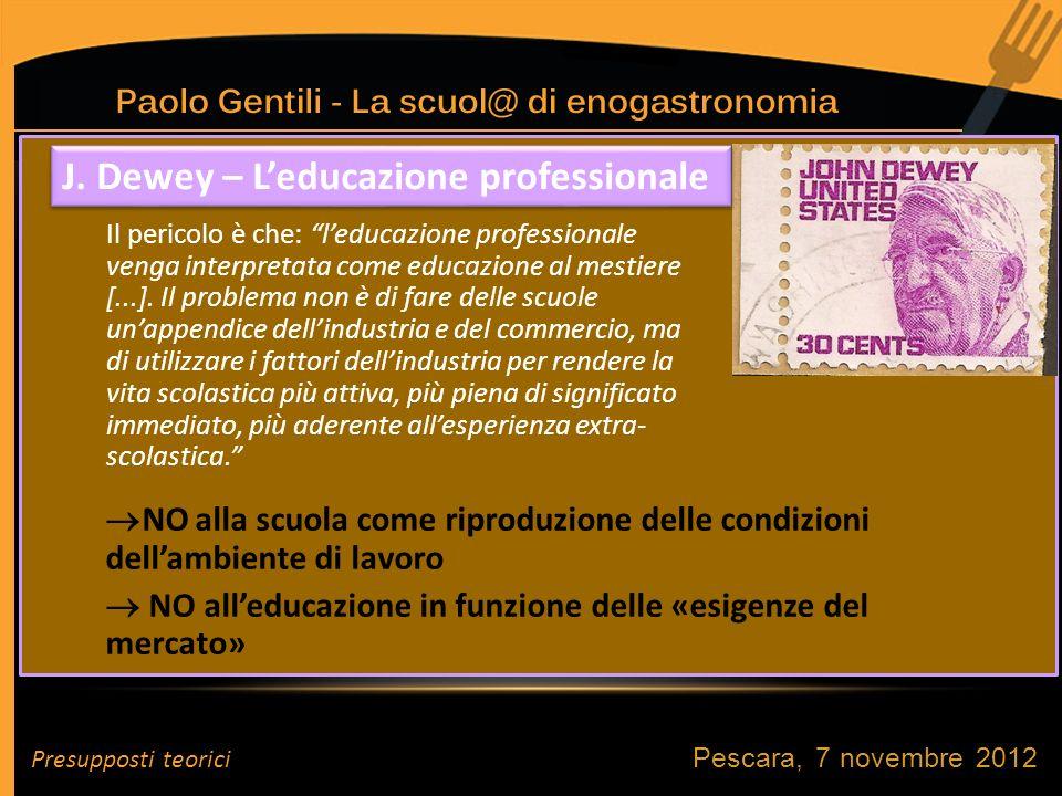 J. Dewey – L'educazione professionale