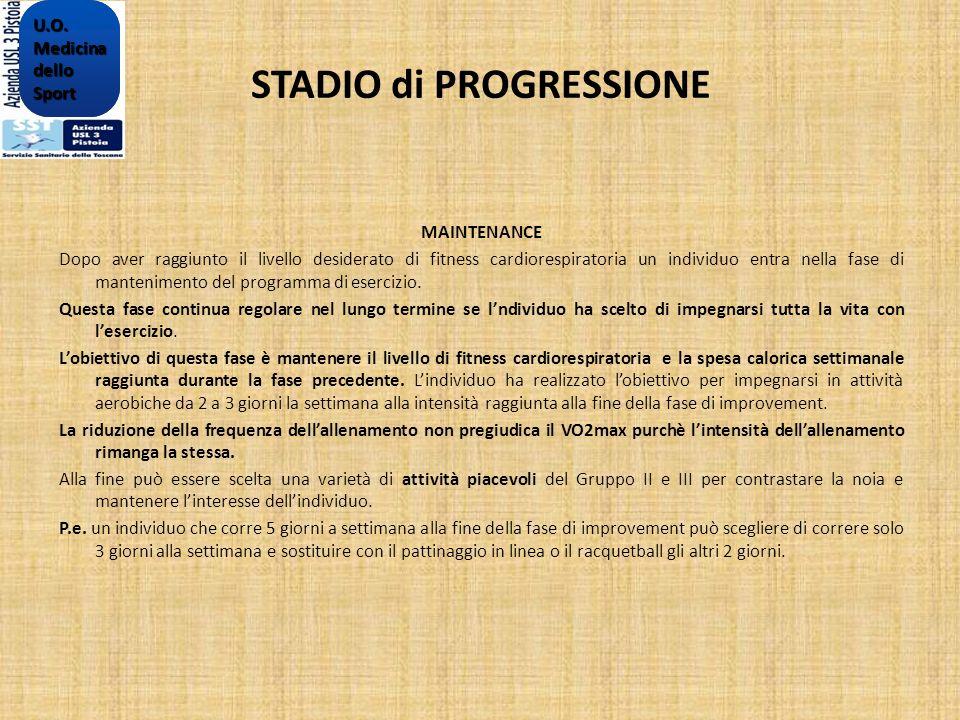 STADIO di PROGRESSIONE