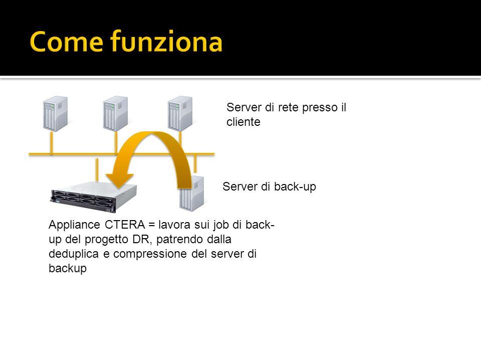Come funziona Server di rete presso il cliente Server di back-up