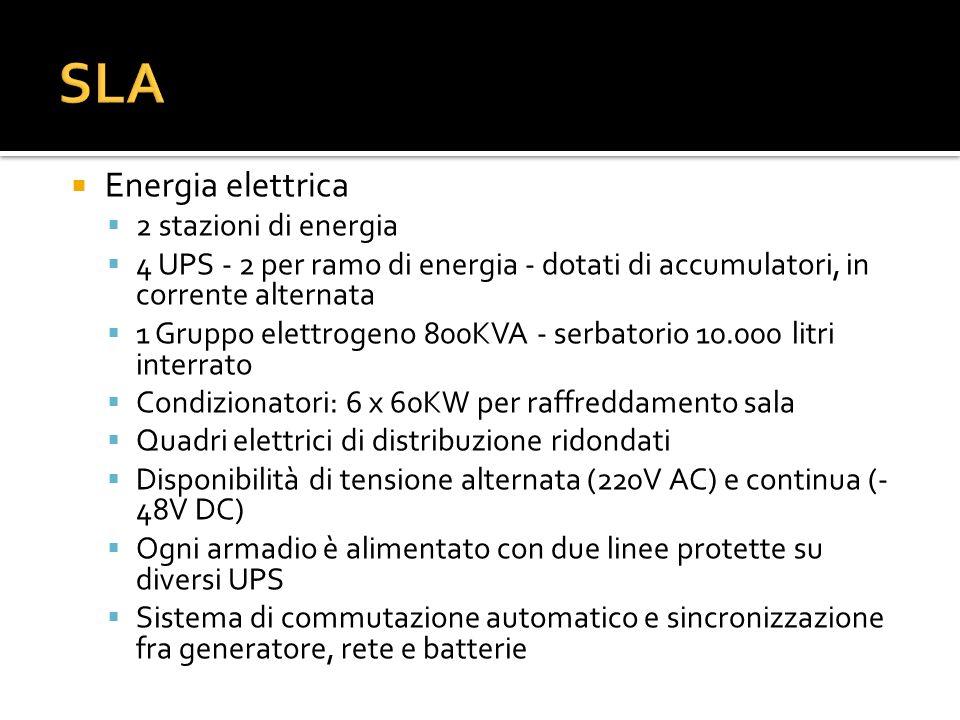 SLA Energia elettrica 2 stazioni di energia