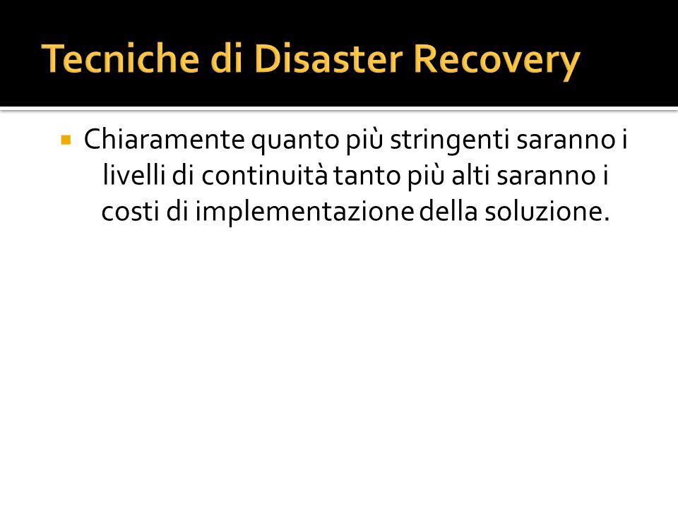 Tecniche di Disaster Recovery
