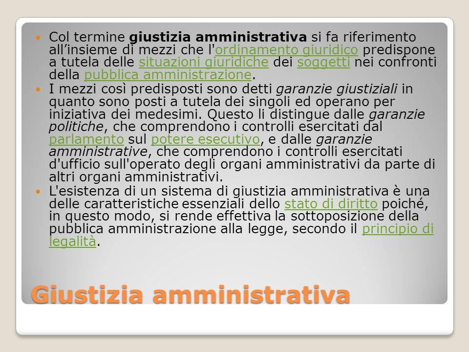 Giustizia amministrativa