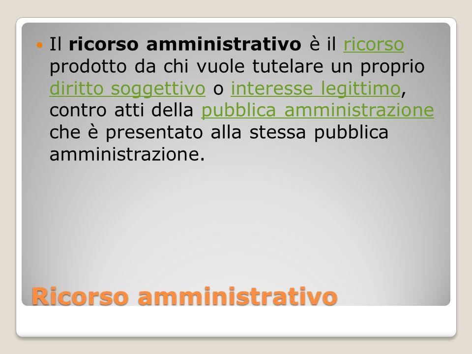 Ricorso amministrativo