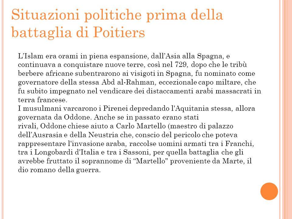 Situazioni politiche prima della battaglia di Poitiers