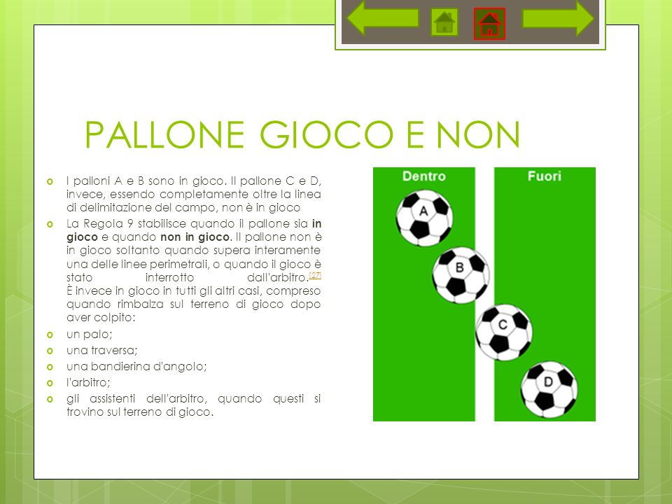 PALLONE GIOCO E NON