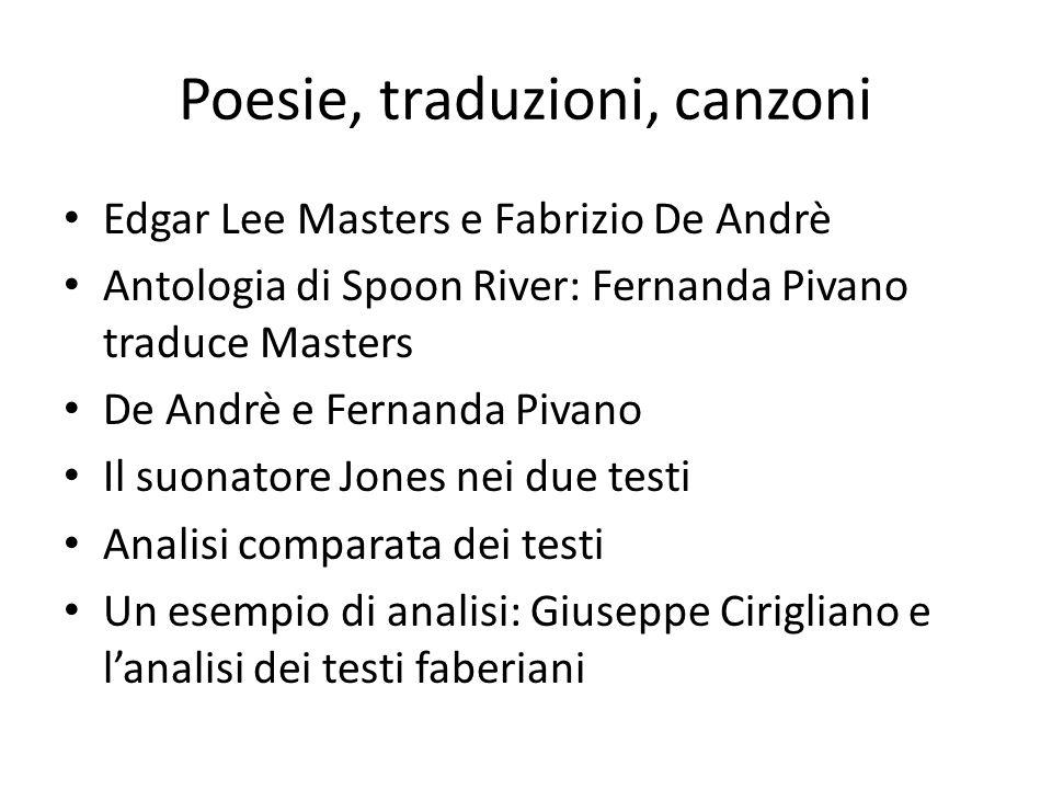 Poesie, traduzioni, canzoni