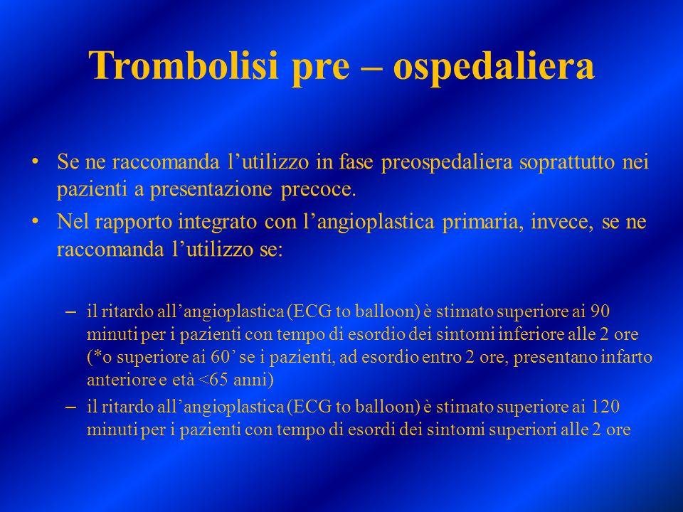 Trombolisi pre – ospedaliera
