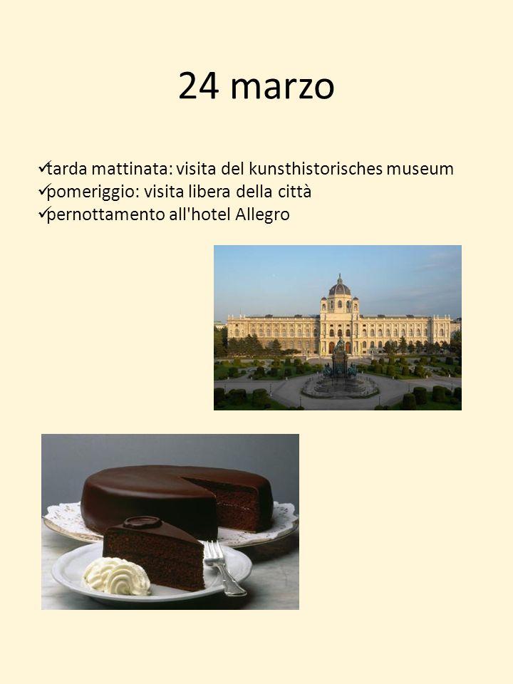 24 marzo tarda mattinata: visita del kunsthistorisches museum