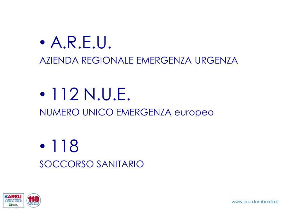 A.R.E.U. 112 N.U.E. 118 AZIENDA REGIONALE EMERGENZA URGENZA