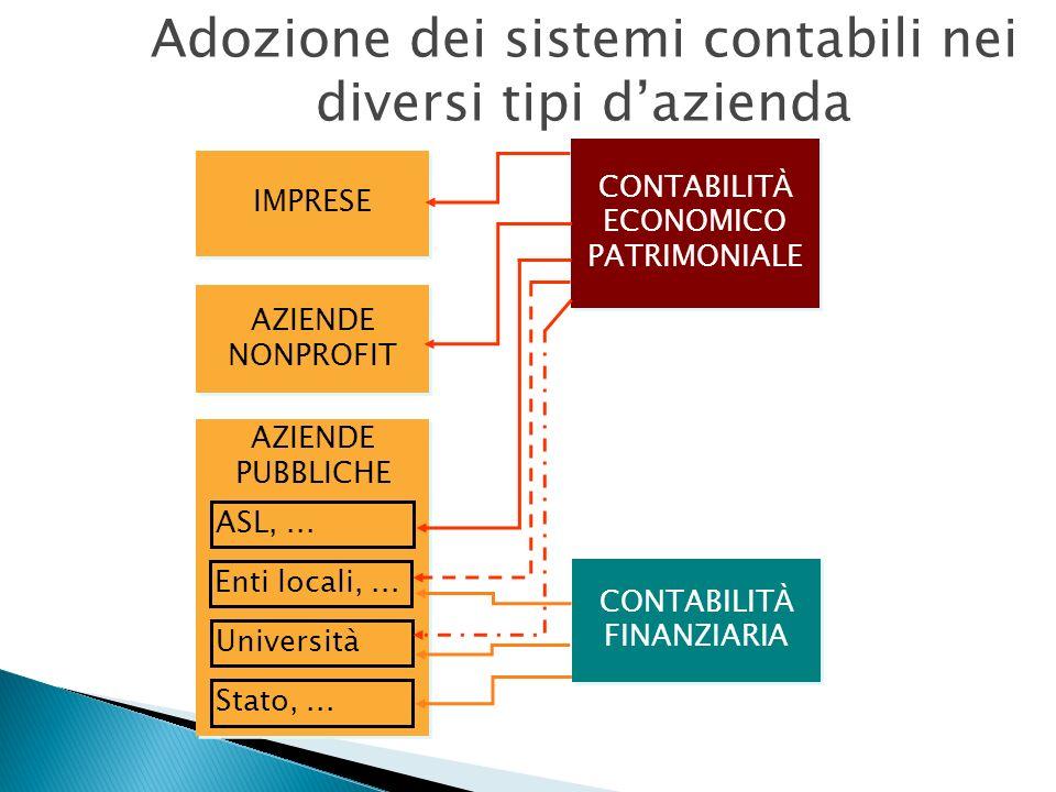 Adozione dei sistemi contabili nei diversi tipi d'azienda