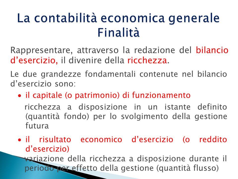 La contabilità economica generale Finalità