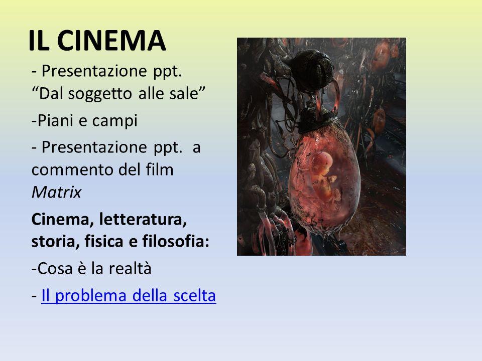 IL CINEMA - Presentazione ppt. Dal soggetto alle sale Piani e campi