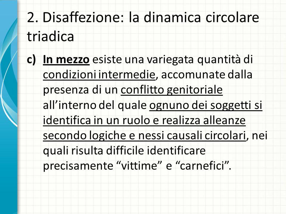 2. Disaffezione: la dinamica circolare triadica