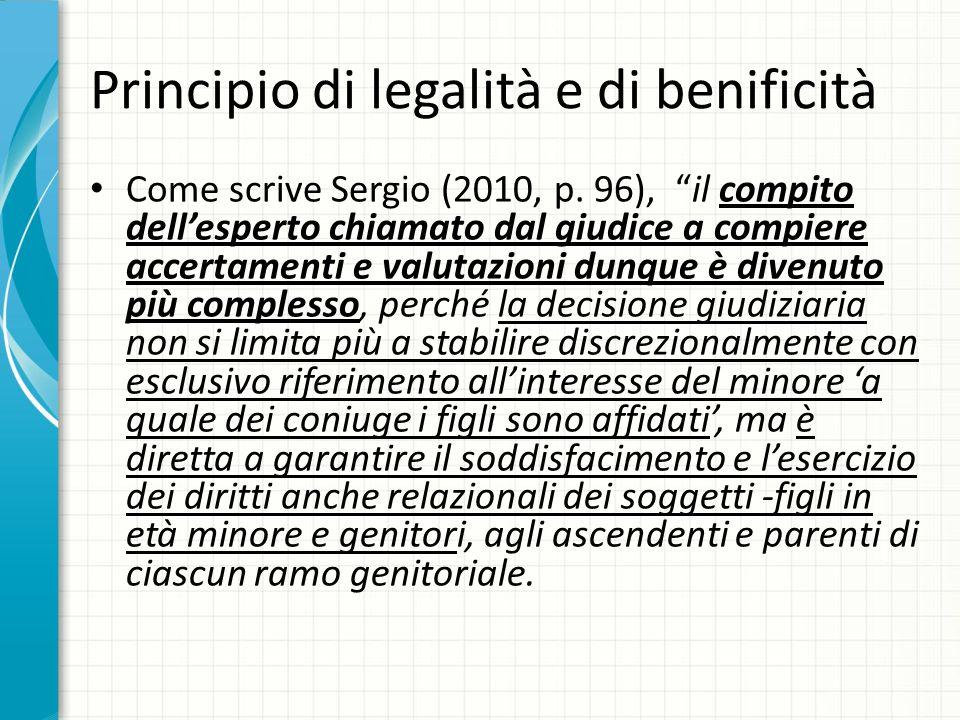 Principio di legalità e di benificità