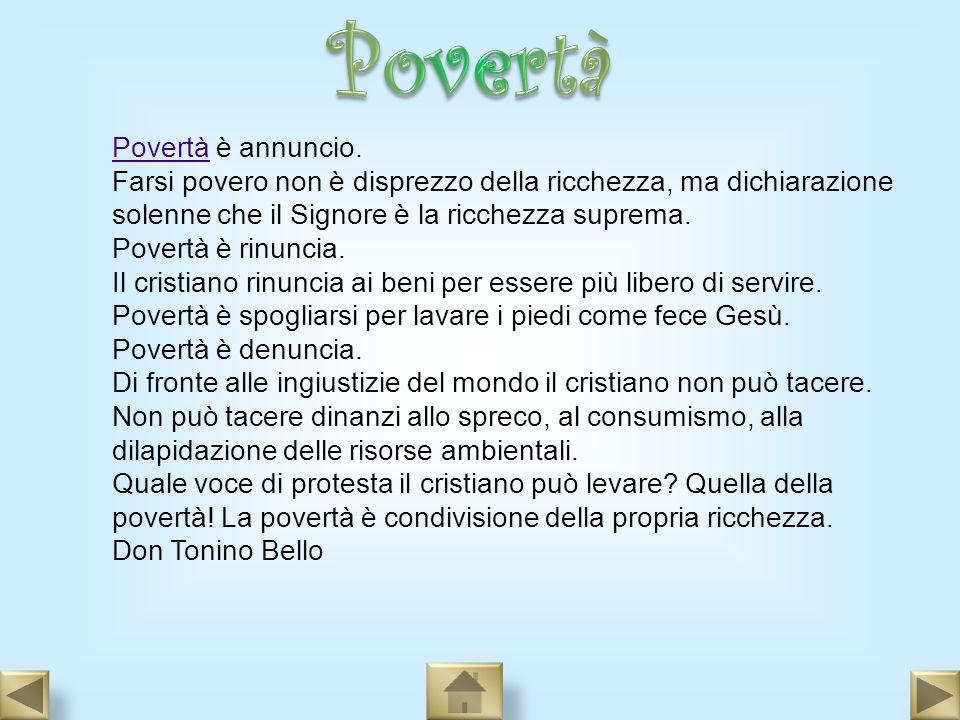 Povertà Povertà è annuncio.