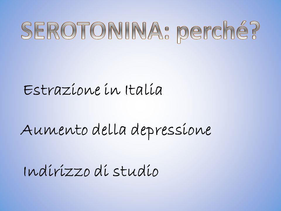 SEROTONINA: perché Estrazione in Italia Indirizzo di studio