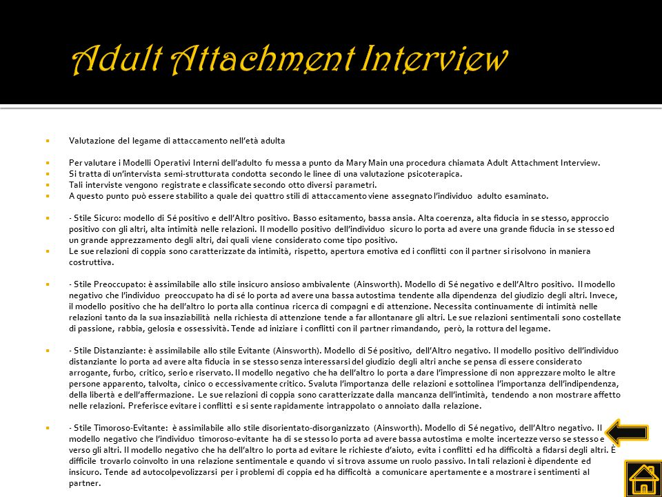 Adult Attachment Interview