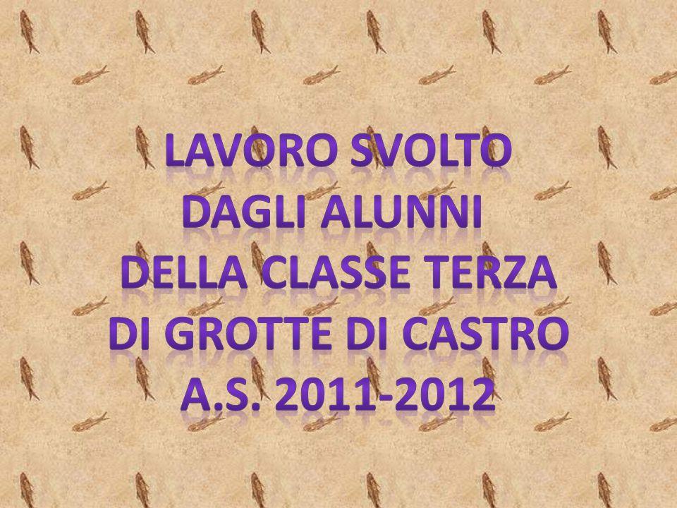 LAVORO SVOLTO DAGLI ALUNNI DELLA CLASSE TERZA DI GROTTE DI CASTRO a.s. 2011-2012