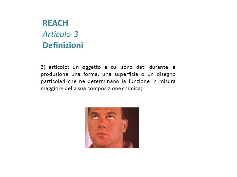 REACH Articolo 3 Definizioni