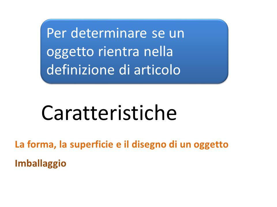 Per determinare se un oggetto rientra nella definizione di articolo