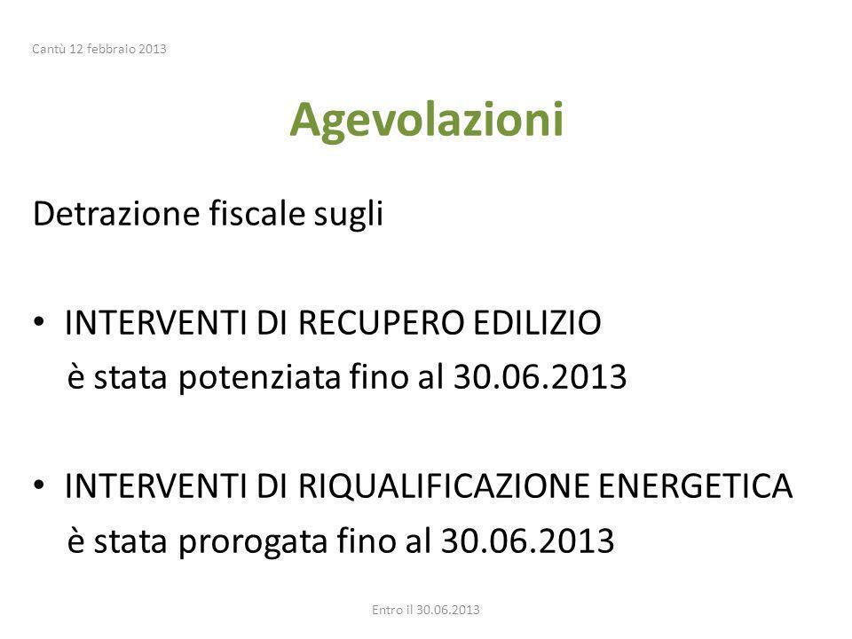 Agevolazioni Detrazione fiscale sugli INTERVENTI DI RECUPERO EDILIZIO