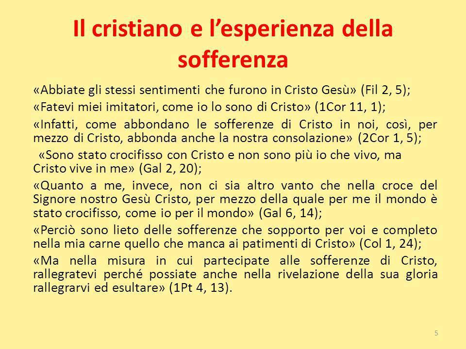 Il cristiano e l'esperienza della sofferenza