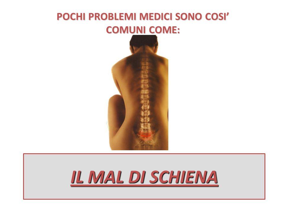 POCHI PROBLEMI MEDICI SONO COSI' COMUNI COME: