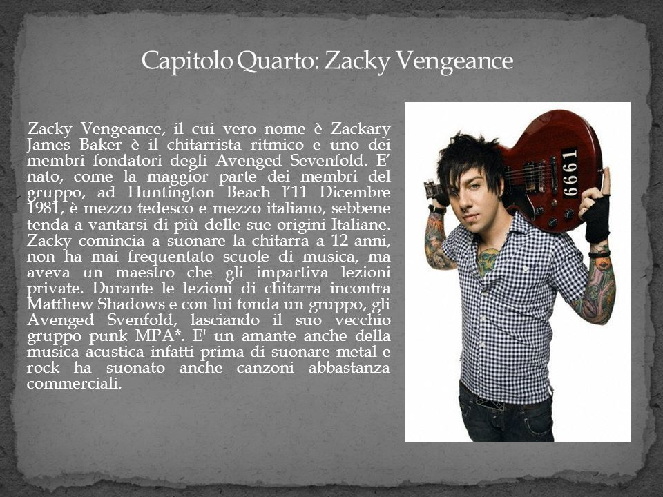 Capitolo Quarto: Zacky Vengeance