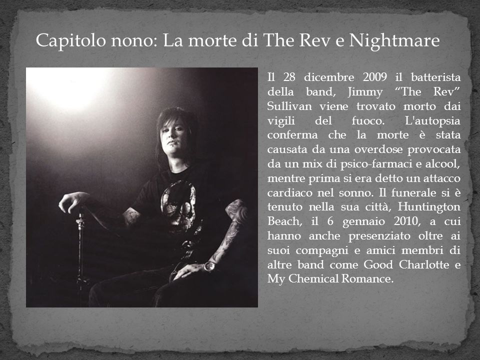 Capitolo nono: La morte di The Rev e Nightmare