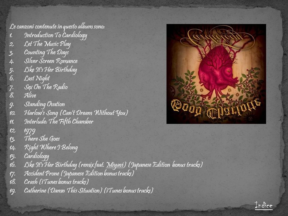 Indice Le canzoni contenute in questo album sono: