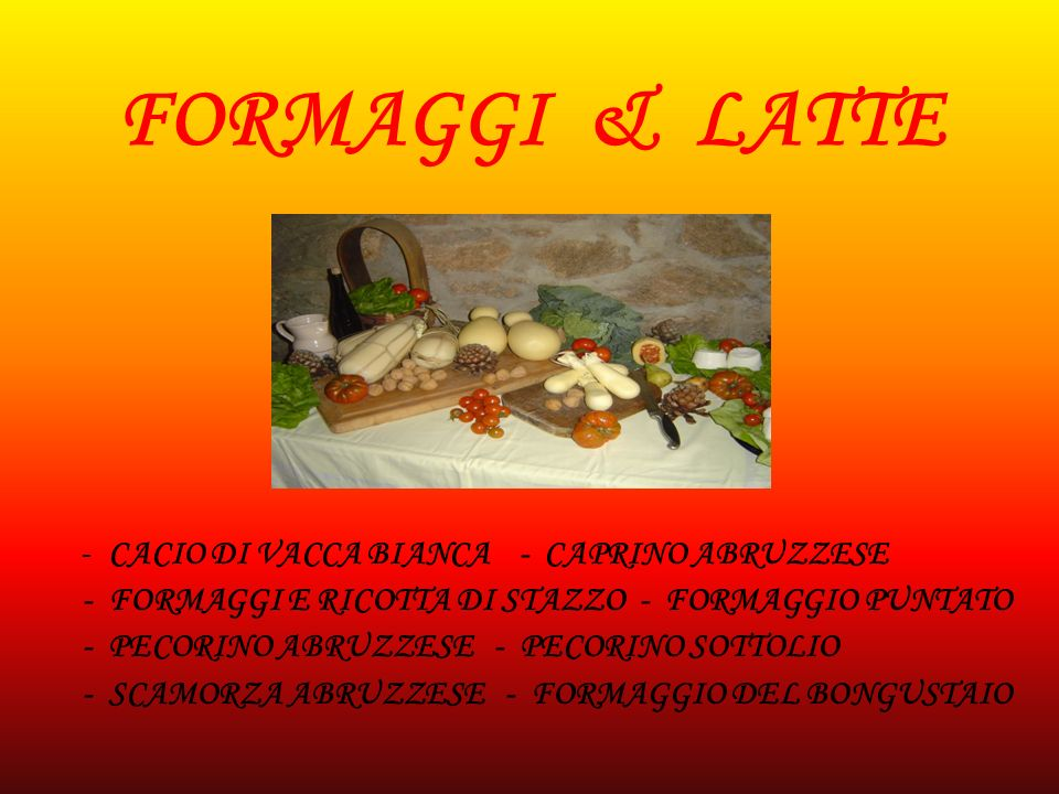 FORMAGGI & LATTE - FORMAGGI E RICOTTA DI STAZZO - FORMAGGIO PUNTATO