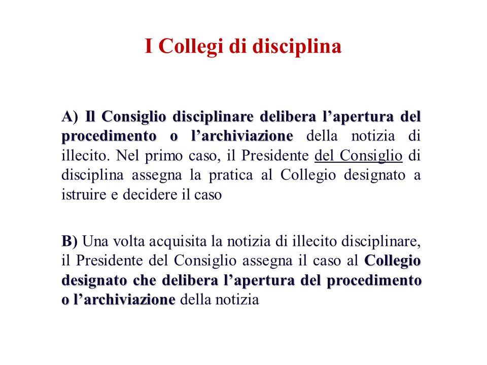 I Collegi di disciplina