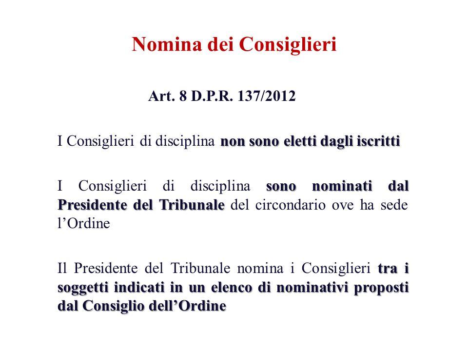 Nomina dei Consiglieri