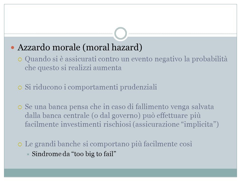 too big to fail moral hazard What is moral hazard from wall street (2010.