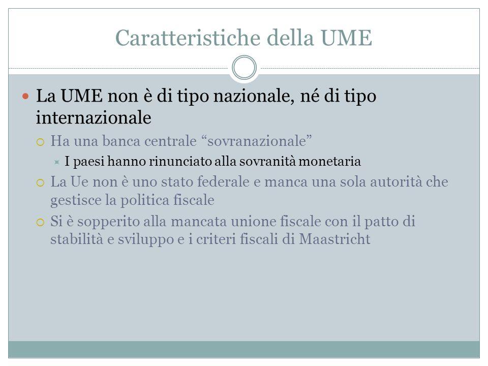 Caratteristiche della UME
