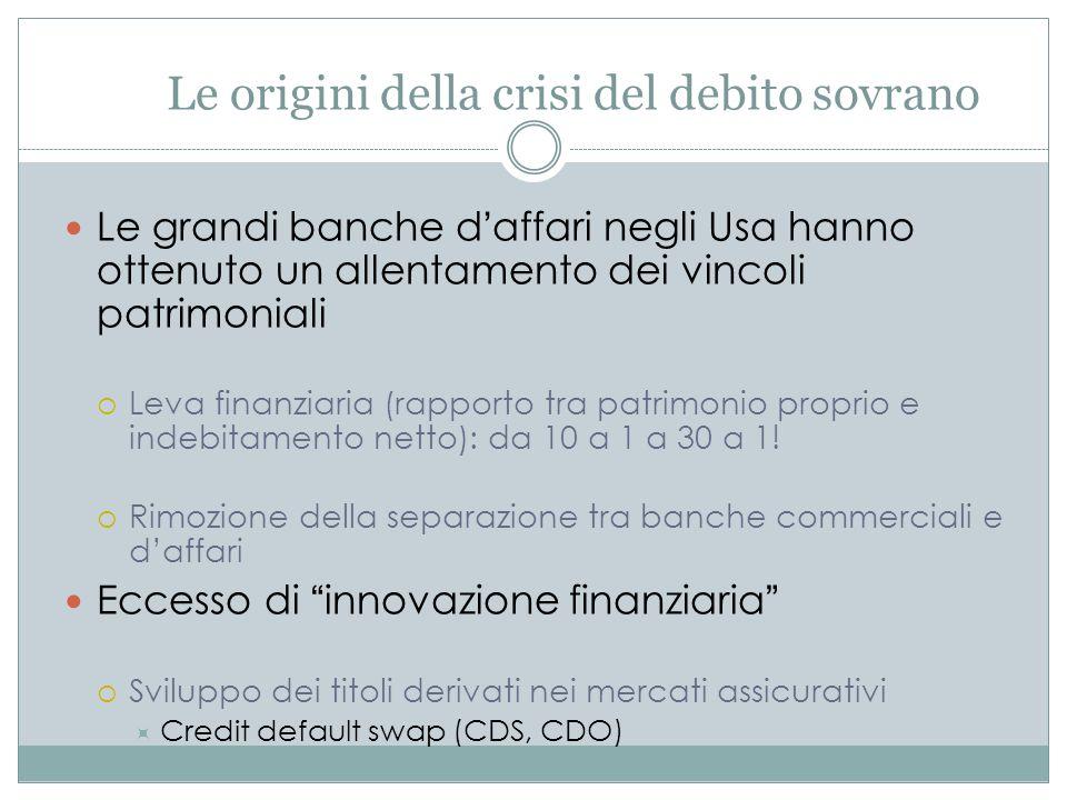 Le origini della crisi del debito sovrano