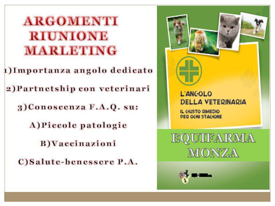 ARGOMENTI RIUNIONE MARLETING EQUIFARMA MONZA