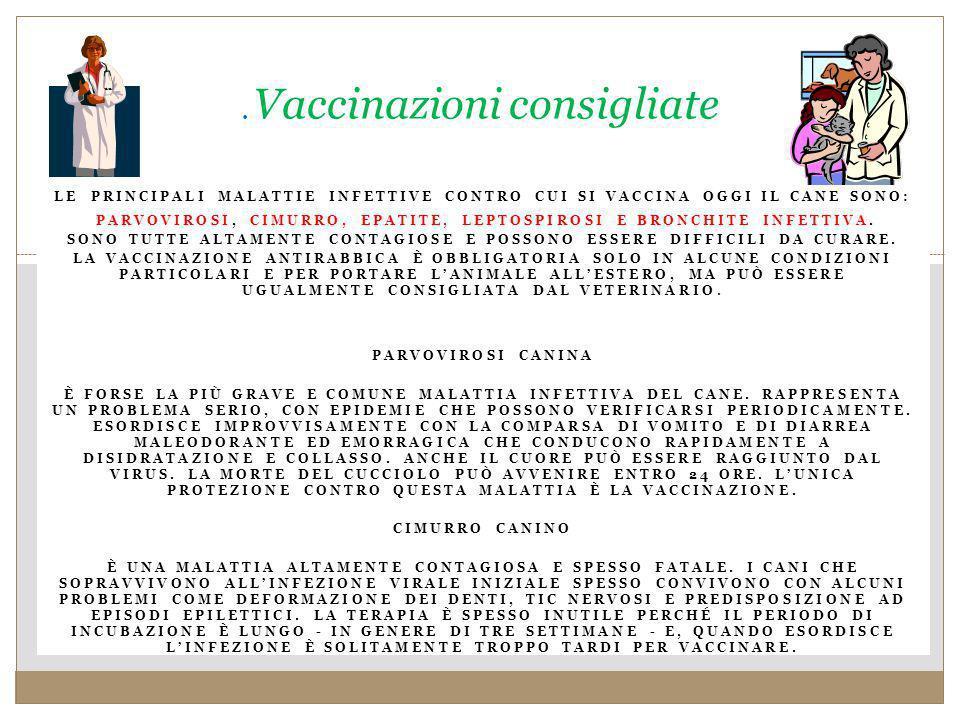 . Vaccinazioni consigliate
