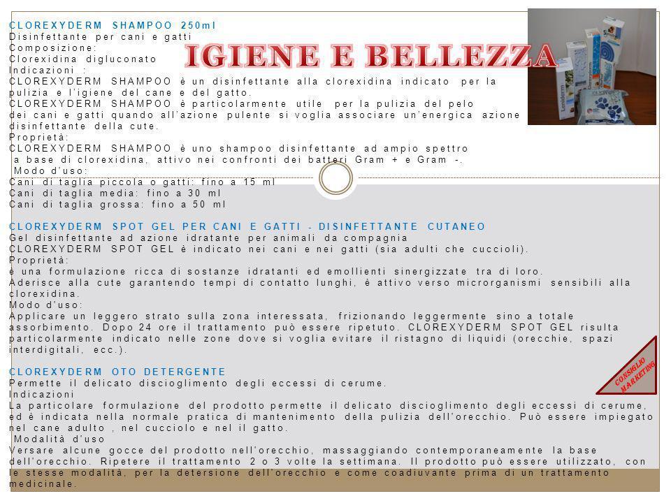 IGIENE E BELLEZZA CLOREXYDERM SHAMPOO 250ml